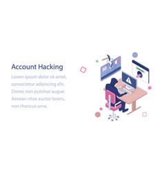 Account hacking vector