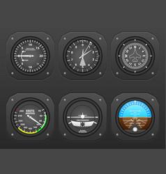 Airplane dashboard vector