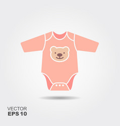 baby boy bodysuit flat icon vector image