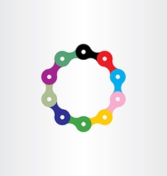 bicycle chain circle logo vector image