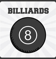 billiards sport vector image