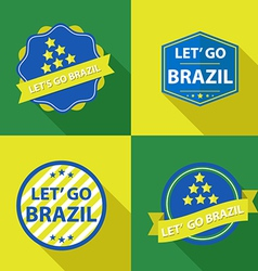 brazil ribbons and labels vector image