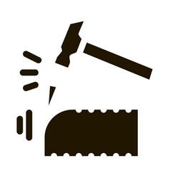 Brick clipping icon glyph vector
