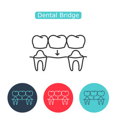 bridges teeth icon vector image