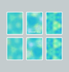 Bright blurred backgrounds set vector image