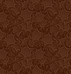 Brown seamless asymmetric star pattern background vector