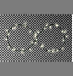 Christmas lights light string in infinity vector