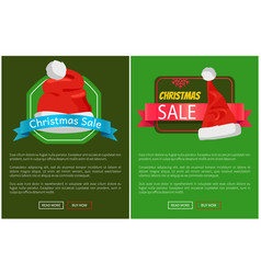 Christmas sale promotion cards vector