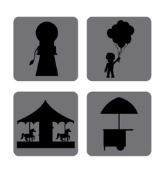 Circus icons design vector
