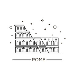 colosseum in rome icon vector image