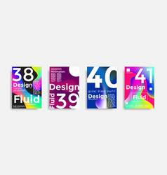 covers templates collection with graphic geometric vector image