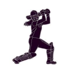 cricket women 4 vector image