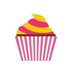 Cupcake icon flat style vector image