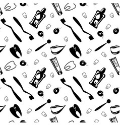 dental care colour seamless pattern vector image