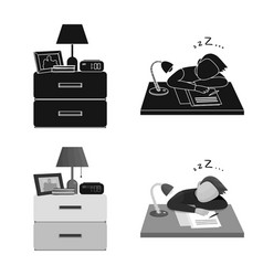Design of dreams and night sign set of vector