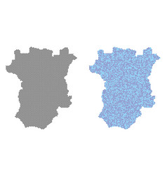 Dotted chechnya map abstractions vector