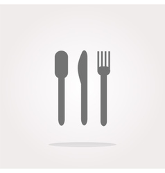 fork and knife Eat sign icon Cutlery etiquette vector image