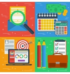 Four square business flat concepts vector