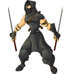 gaming character ninja vector image