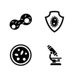 genetics lab research simple related icons vector image
