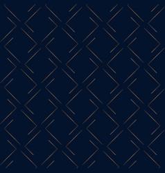 Geometric pattern gold on dark blue background vector