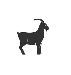 goat silhouette black vector image