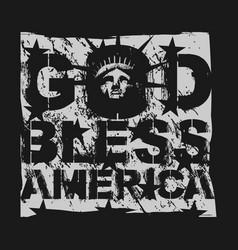 god bless america design template for sale vector image