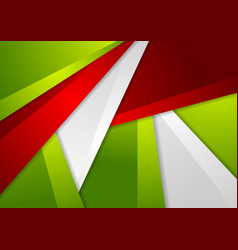 Green and red abstract corporate material vector
