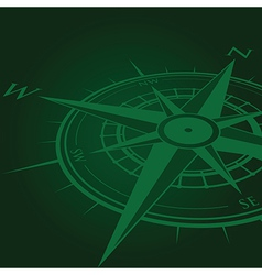 green compass vector image vector image