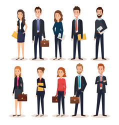 Group of people human resources vector