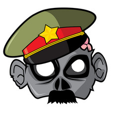 Halloween paper mask - general zombie vector