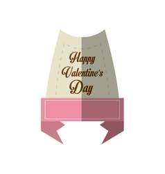 happy valentines day card message pink ribbon vector image
