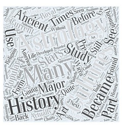History of astrology Word Cloud Concept vector