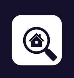 House apartment search icon vector