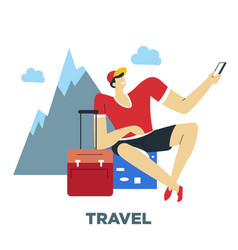 human need traveling and world exploration guy vector image