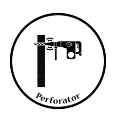 Icon of perforator drilling wall vector image