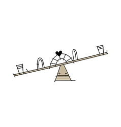 Icon seesaw vector