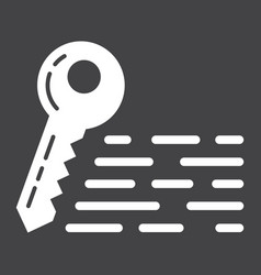 Keywords glyph icon seo and development vector