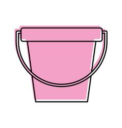 laundry bucket isolated icon vector image