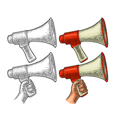 loudspeaker vintage color and monochrome vector image