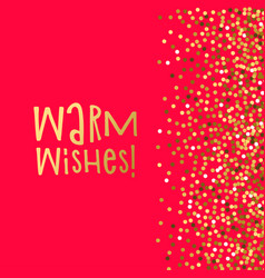 love banner warm wishes vector image