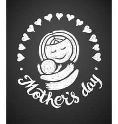 Mothers Day Chalk drawing vector image