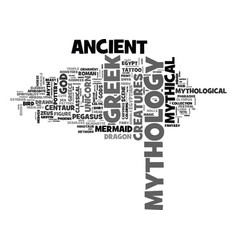 mythology word cloud concept vector image