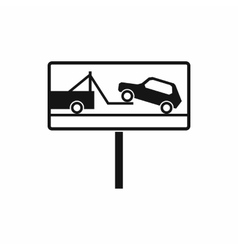No parking sign icon simple style vector image
