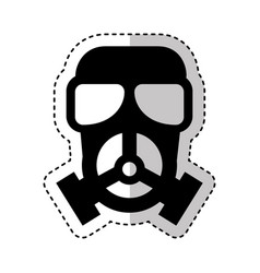 Nuclear mask isolated icon vector