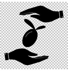 Oliva sign Flat style icon vector image