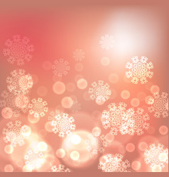 orange christmas lights background vector image