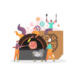 pizza restaurant concept for web banner vector image