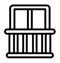 Quiet spaces balcony icon outline style vector