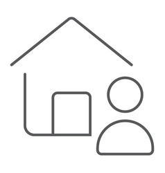real estate agent thin line icon real estate vector image